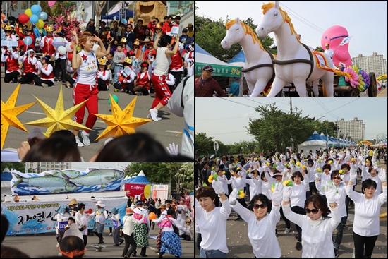 14개 읍면동 2000여 명의 시민들이 와룡퍼레이드에 참가해 축제의 주인공이 됐다.