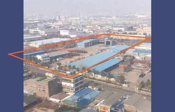 인천 동구 수소연료전지발전소 건립 부지
