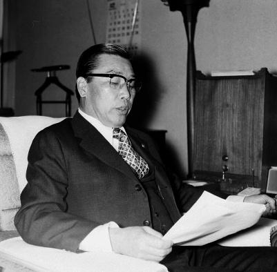 건설부장관 시절(1974~1976년)의 김재규.
