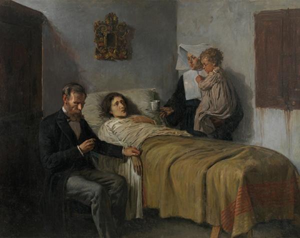 피카소, <과학과 자비>. 그가 15살 때 그린 그림이다.