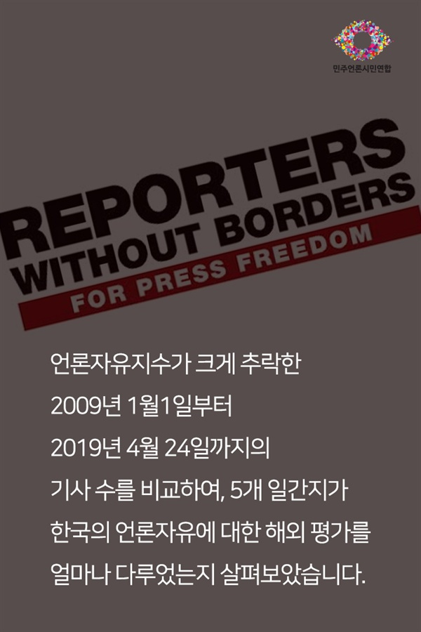[카드뉴스] 언론자유 부르짖는 언론, 언론자유 평가엔 관심없다?