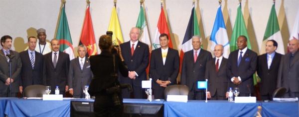 2010년에 열린 OPEC 회의.