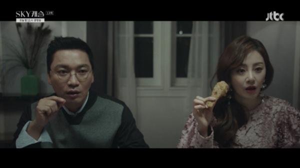 조재윤과 진진희 부부가 나오면 <SKY캐슬>의 장르는 가족 시트콤으로 변모한다.