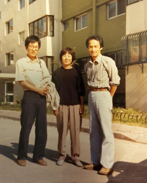 광주항쟁 7년후 1987년 판화가 홍성담, 작가 윤정모, 교수 최권행