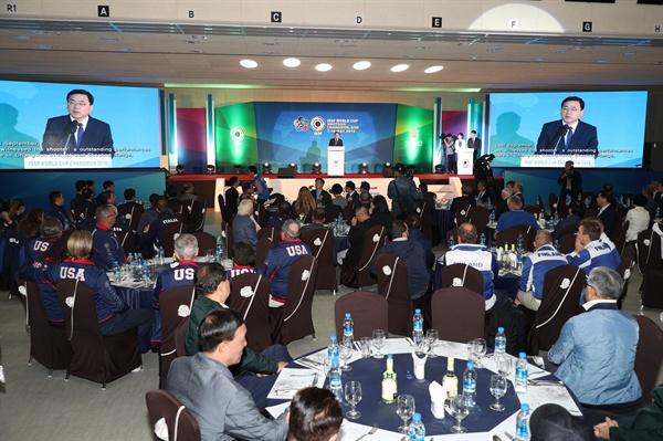 8일 저녁 창원국제사격장 결선사격장에서 '2019 ISSF 창원 월드컵사격대회' 개회식이 열렸다.