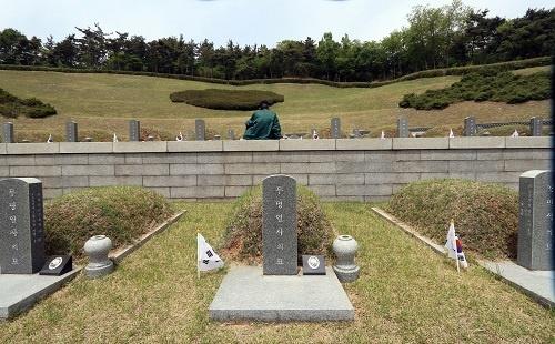 국립 5.18민주묘지 무명열사의 묘. <교육청 제공>