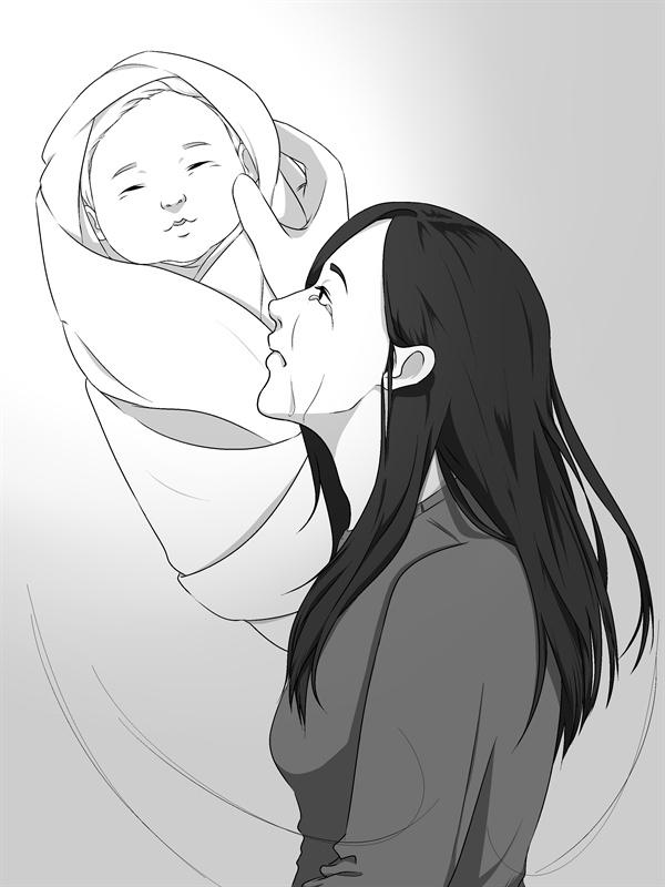 '너는 볼 수 없던 이야기' 미혼모 지원씨(가명, 20대)는 연인과 사이에서 낳은 아기 입양을 결정했다.