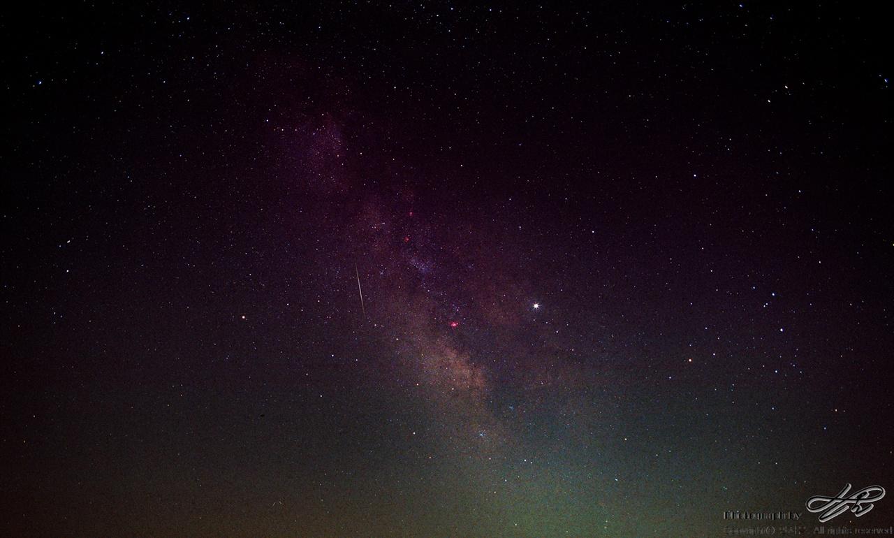 궁수자리 은하수 (Portra800/F5.6/노출 20분)새벽3시 반, 궁수자리 은하수.