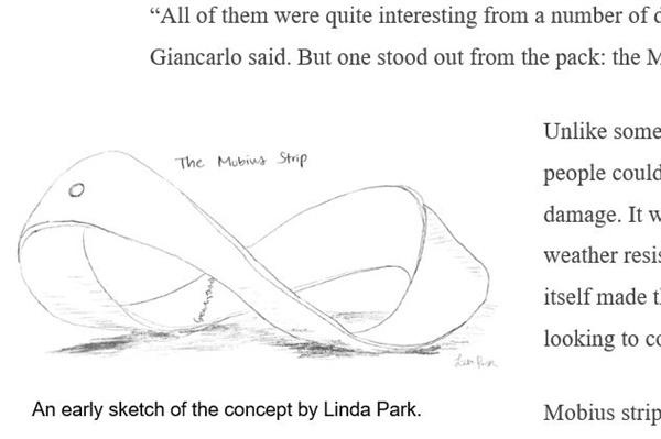 해시계 밑그림 박경혜 씨가 해시계 조형물을 만드는 과정에서 그린 밑그림.