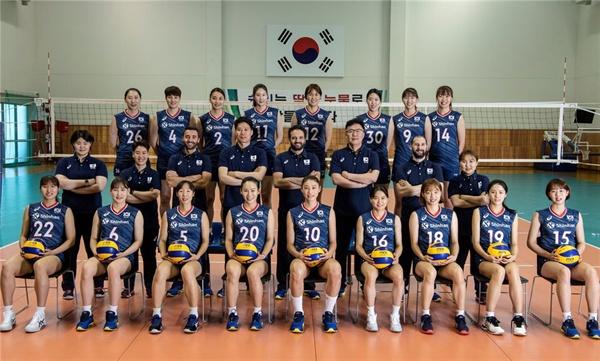 2019 발리볼 네이션스 리그(VNL) 여자배구 대표팀 선수들
