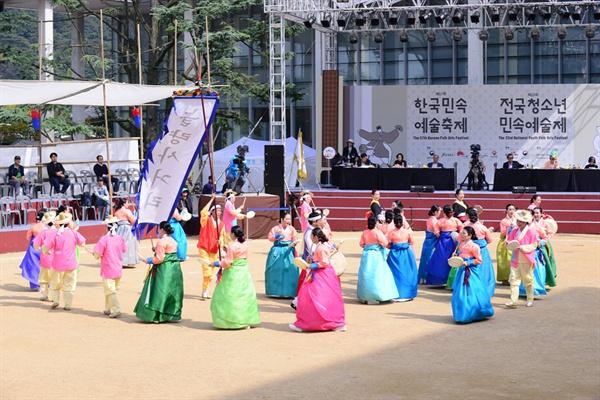 한국민속예술축제 놀량사거리팀 대회출전 사진