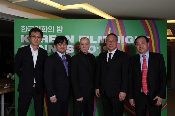 제72회 칸영화제에서 열린 '한국영화의 밤' 행사 당시 현장.