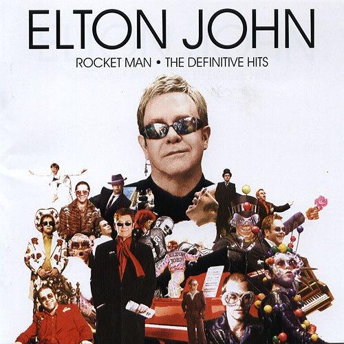 엘튼 존의 히트곡 모음집 < Rocketman - The Defiitive Hits > 표지