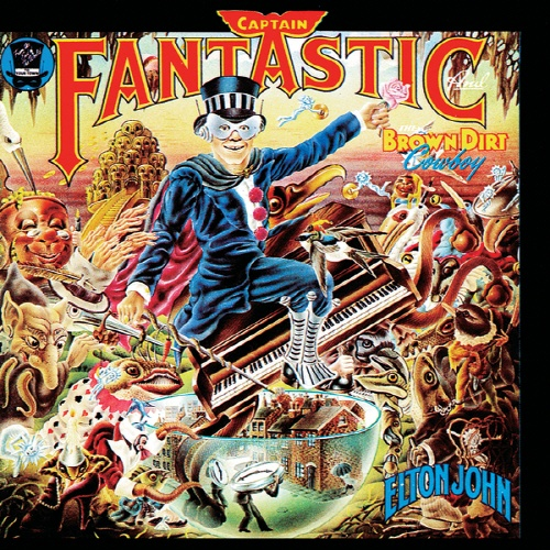 엘튼 존의 1975년 음반 < Captain Fantastic and The Brown Dirt Cowboy > 표지