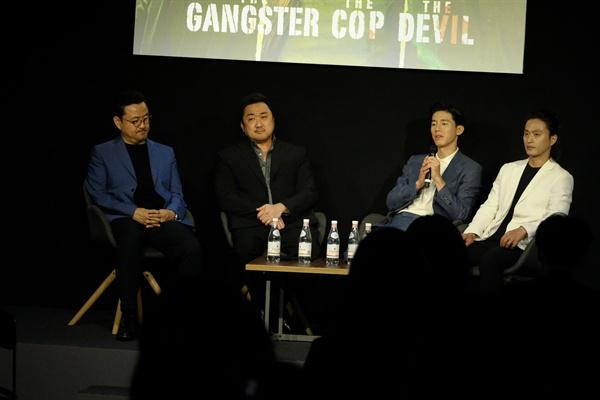 23일 오후 한국 기자단과 간담회를 가진 영화 <악인전> 팀.