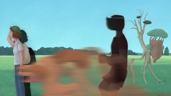 제72회 칸영화제 감독 주간에 초청된 단편 애니메이션 <움직임의 사전>의 한 장면.