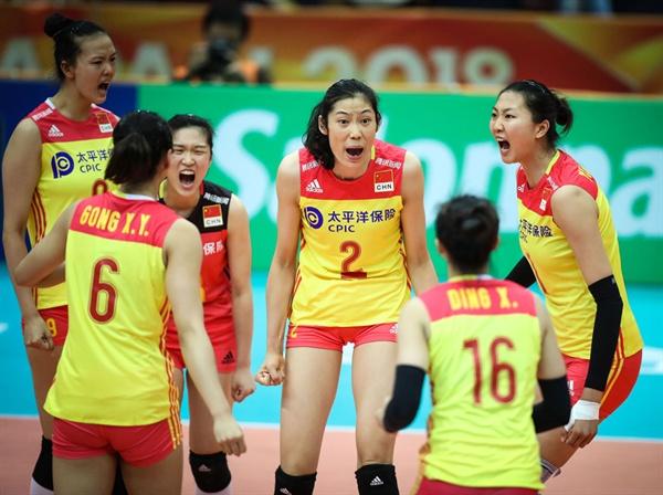 2018 세계선수권, 중국 여자배구 대표팀 주전 선수들