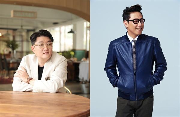 김현철(왼쪽)과 윤종신의 음악은 최근 일부 마니아들의 시티팝 유행을 통해 재평가되고 있다.