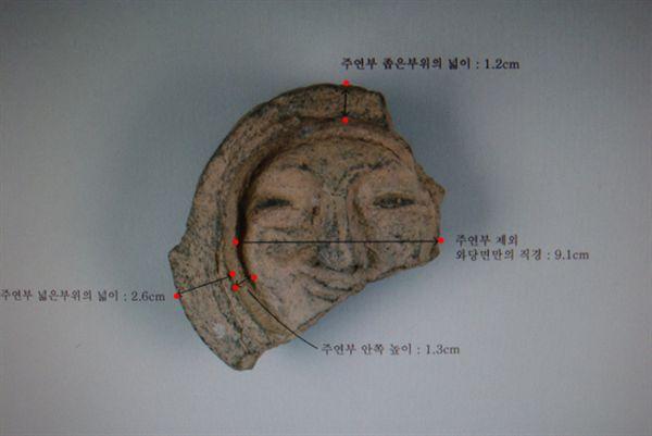 경주 얼굴무뉘 수막새 계측자료 (1)