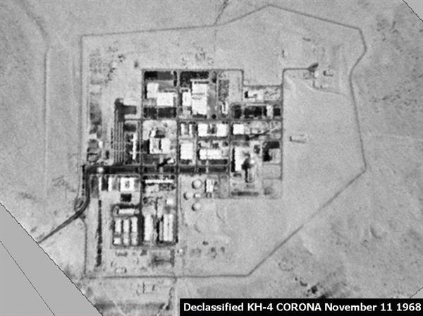 미국 정찰위성이 촬영한 이스라엘 네게브 핵연구 센터. 디모나 핵개발 센터로도 불린다.