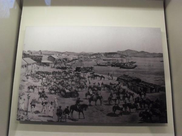 동학혁명 당시 일본군의 상륙. 대한민국역사박물관에서 찍은 사진.
