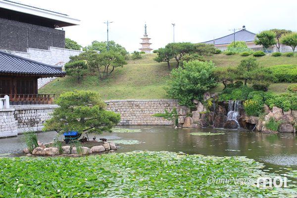 국립경주박물관 월지관 아래 위치한 고청지  연못