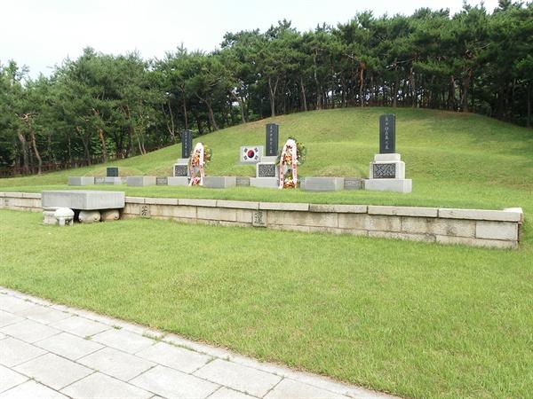 서울 용산구 효창공원에 있는 삼의사 묘역.