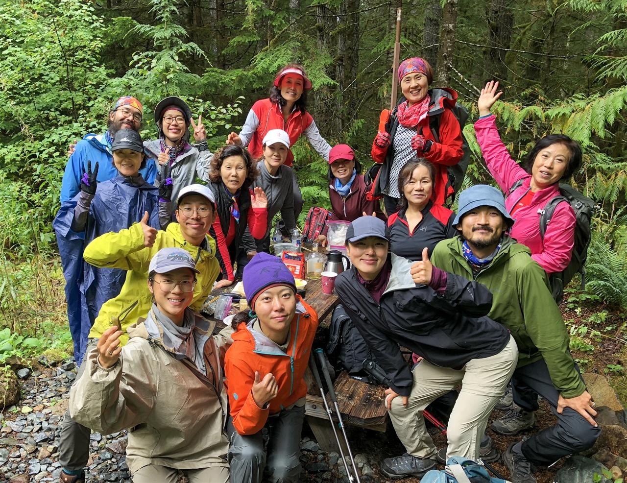한국 트레일 엔젤 골드마이어 온천에서 만난 시애틀 교민분들