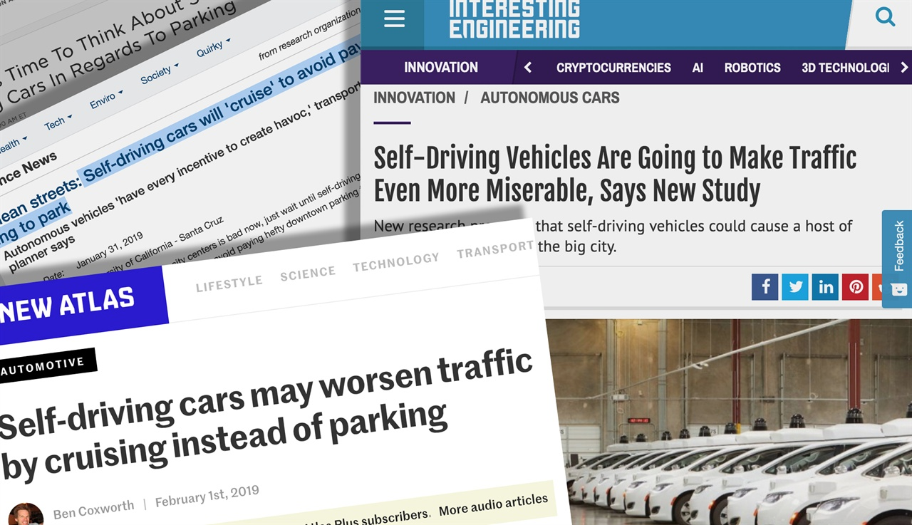 자율주행차가 도로의 정체와 혼란을 악화시킬 것이라는 우려가 커지고 있다.