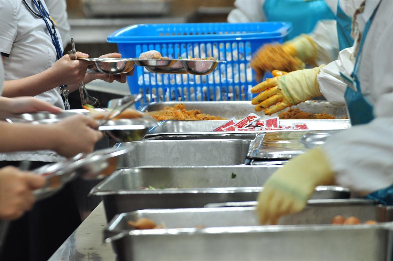 경기도 소재 학교 급식 모습