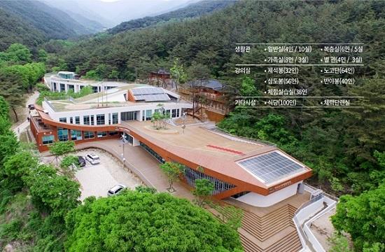 지리산 생태탐방원은 숙박을 겸한 교육시설로, 생태관광과 환경교육 프로그램을 운영한다.