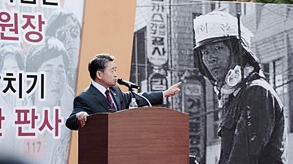 영화 <김군>의 한 장면. 영화는 극우논객 지만원이 '북한군'이라고 주장하는 인물, '제1광수'를 추적한다