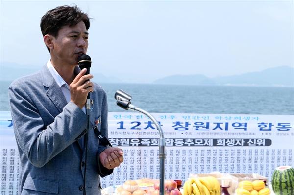 세월호 '유민 아빠' 김영오씨도 추모식에 참석해 유가족들을 위로했다.