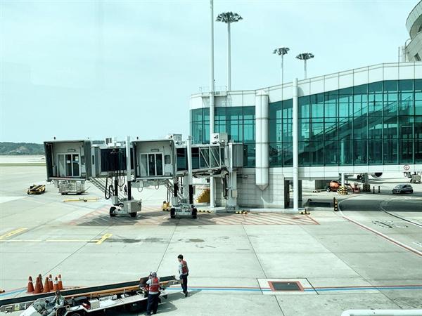 인천공항에서 운영 중인 탑승교