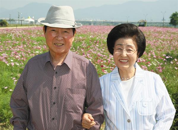 '평생 동지' 김대중 전 대통령과 이희호 여사의 생전 모습.