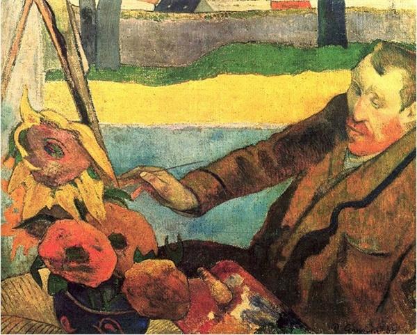 폴 고갱 '해바라기를 그리는 빈센트'(1888)