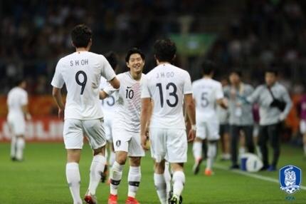 대한민국-에콰도르 대한민국 U-20 국가대표 선수들