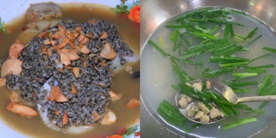 인도네시아 별미 '론통 쿠팡(lontong kupang·왼쪽)'은 재첩과 떡을 넣어 만든 국물 요리다. 맑은 국물인 '재첩국(오른쪽)'과는 좀 다르다.