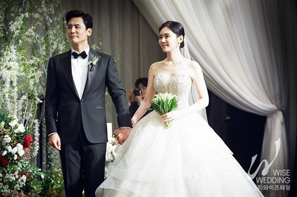 추자현-우효광 부부의 결혼식 장면