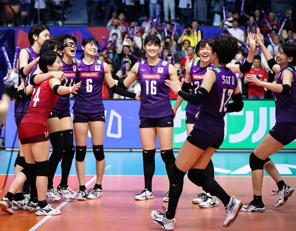 2019 VNL 일본 여자배구 대표팀 선수들