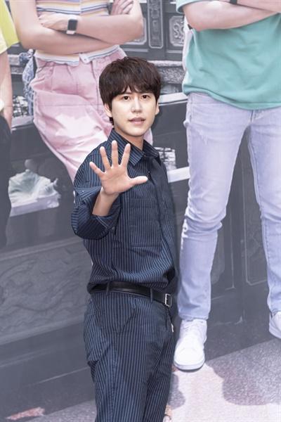 18일 서울 신도림동 라마다호텔에서 열린 tvN <더 짠내투어> 제작발표회에 참석한 규현.