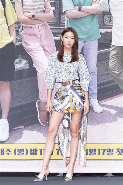 18일 서울 신도림동 라마다호텔에서 열린 tvN <더 짠내투어> 제작발표회에 참석한 한혜진