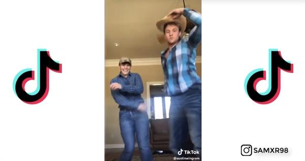 릴 나스 엑스의 노래에 맞춰 춤을 추는 '이햐 챌린지'의 한 장면. 'Old town road'는 지난해부터 유행의 조짐이 있던 미국 카우보이 문화를 놀이로 만들었다.