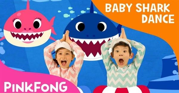 유튜브 조회수 29억 건을 기록하며 빌보드 싱글 차트에 진입한 '상어 가족'.