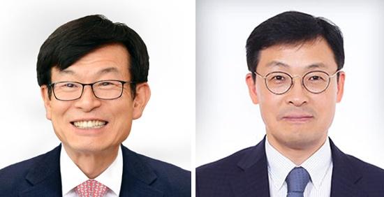 김상조 신임 청와대 정책실장(왼쪽)과 이호승 신임 경제수석