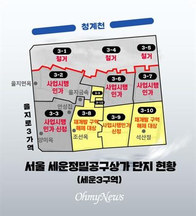 서울 세운정밀공구상가 단지 현황(세운3구역)