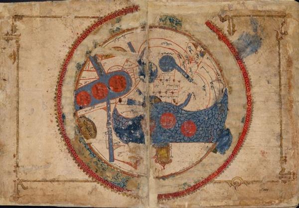 중세 이슬람 지도 al-Istakhri, 1193년