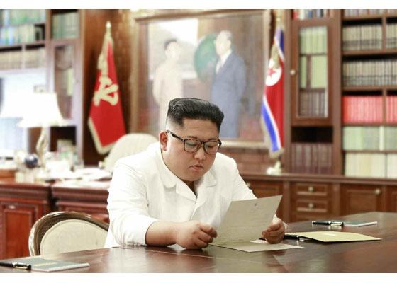 김정은 친서 확인 북의 관영매체들은 23일 김정은 국무위원장이 도널드 트럼프 미 대통령이 보내온 친서에 만족을 표했다고 전했다.