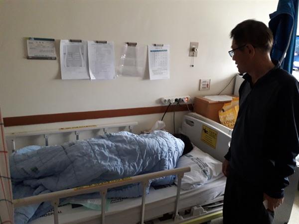 김창호씨는 아내의 간이식 수술비만 3000만원을 마련해야 한다. 각종 검사비, 약값, 입원비 등도 200만원이 넘게 밀려있다. 기저귀를 비롯한 각종 병원용품 비용만 하루에 3만원~5만원씩 지출해야 한다. 도저히 감당할 방법이 없다.