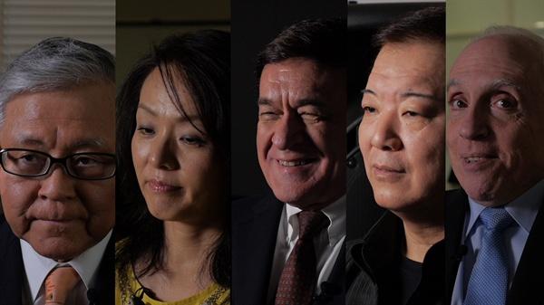 미키 데자키 감독이 제작한 위안부 문제를 다룬 영화, <주전장>. 한국에서는 오는 7월 말에 개봉된다.